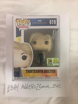 Sdcc 2018 Funko Pop Exclusive Bbc Doctor Who Thirteenth Doctor Le 1300