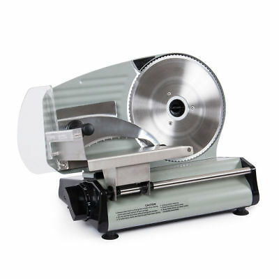 """8.7"""" Commercial 180W Electric Meat Slicer Blade Deli Cutter Veggies Kitchen CE"""