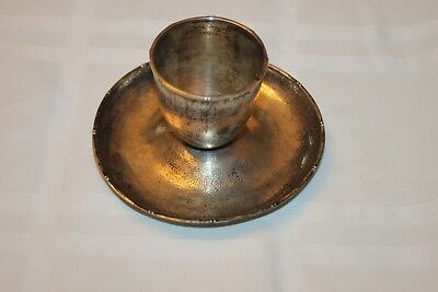 FAKE Zee Sung Silvier Not Silver Dish Candle Holder Probable Knock Off Chinese
