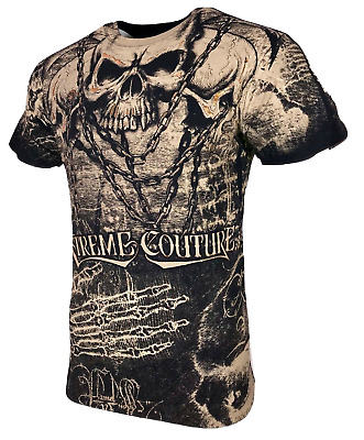 XTREME COUTURE by AFFLICTION Men T-Shirt KILLER Skull Biker MMA UFC S-4X $40