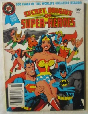DC Blue Ribbon Digest Secret Origins of Super Heroes #19 1981 FN 6.0 FREE SHIP