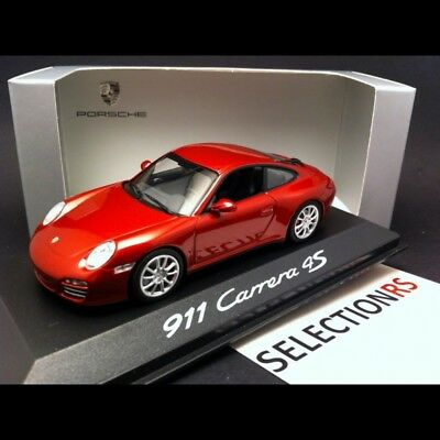 Porsche 911 type 997 Carrera 4S Coupé rouge 1/43 Minichamps WAP02001718
