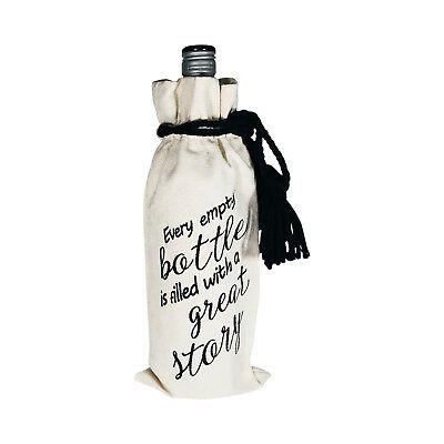 Wine Bottle Gift Bag With Quote  - Eco Friendly - Reusable - Great Gift Idea