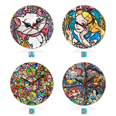 Marie Cat Princess Alice Lovely Round Wall Clock Home Office Room Decor