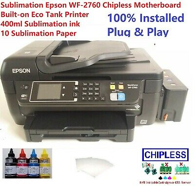 Sublimation Epson WF-2750 Chipless Motherboard Built-on Eco Tank & 400ml ink