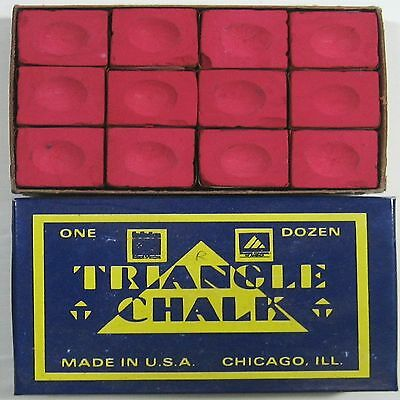1 x BOX OF RED Triangle Snooker or Pool Cue Chalk
