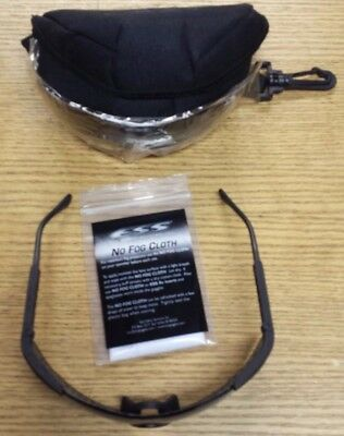 NEW SMOKE LENS FOG CLOTH Glasses ESS ICE BALLISTIC Safety USED FRAME CASE