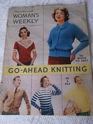 "ORIGINAL VINTAGE 1960's  ""GO-AHEAD KNITTING "" PRESENTED with WOMAN'S WEEKLY ."