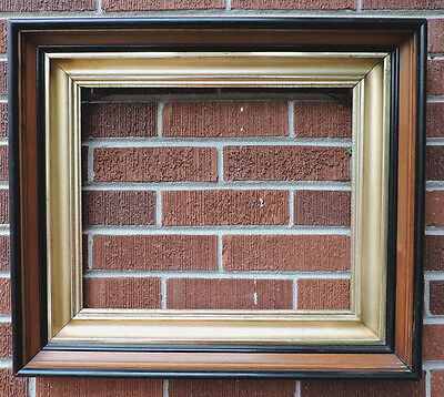 Antique VICTORIAN Heavy WALNUT GILT Gold Deep Well Picture FRAME 14 x 17 c1880s