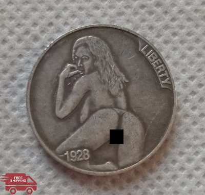 1928-D Five Cents Creative Hobo Nickel Unique Coin for Collectors ​Free Ship