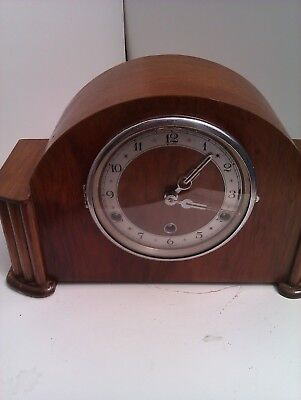 An Old Westminster Chime Mantle Clock In Full Working Order