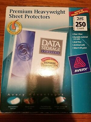 Avery Sheet Protector Clear Top Load 76006 Acid Free 250 Pack Sealed Package New
