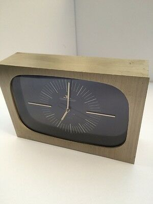 Montre Jeager Lecoultre Table Clock Electric Pendule Desk Steel Verso Vintage Sw
