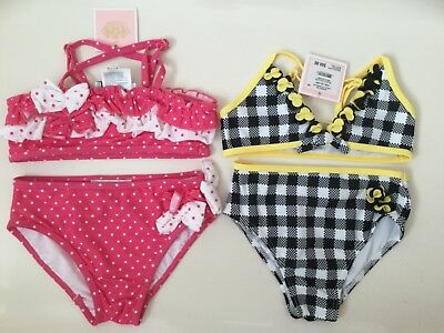 Juicy Couture 2X Maillot de bains Bebe Filles Taille 18/24 Mois - Neuf