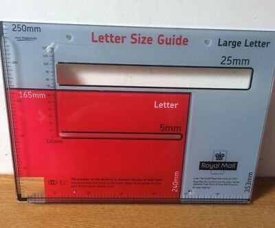 Royal Mail - Postal letter size guide template