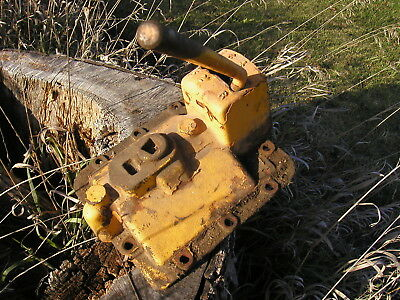 Antique Steampunk steel shifter with numbers on metal plate from old MM tractor!