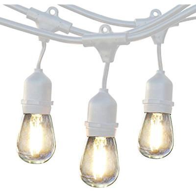Outdoor Lighting Ambience Pro LED Commercial Grade Strand With Hanging Sockets -