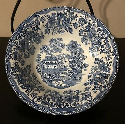 Tonquin By Myott Blue & White Vegetable Bowl Staffordshire England Very Rare!!!!