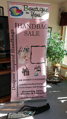"36"" x 70"" Retractable Roll Up Banner Trade Show Display & Carrying Case"