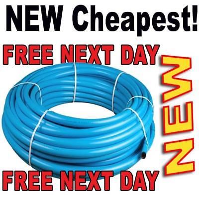 MDPE Blue Alkathene Water poly mains water mains supply pipe roll 100m 50m 25mtr