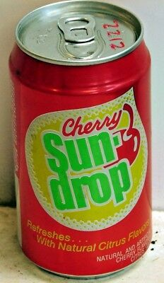 Cherry Sun-drop; Tri-State Canning; Evansville, IN; Soda Pop Can