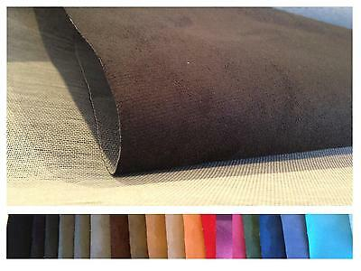 PREMIUM FAUX SUEDE BACKED UPHOLSTERY FABRIC CAR VAN CAMPER BOAT * 10x10cm SAMPLE
