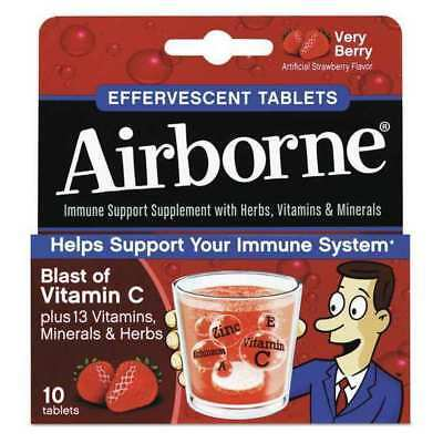 AIRBORNE 47865-30112 Immune Support,Tablet,Berry,Box