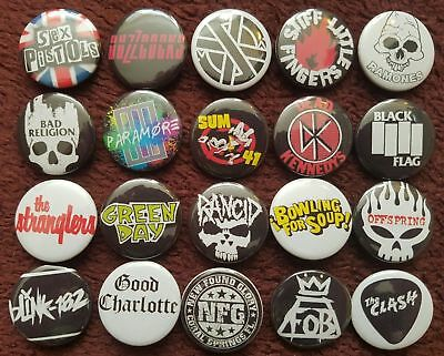 Punk Button Badges (Collection 2). Pins. Party Bag. Collector. Bargain. 25mm :0)