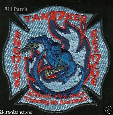 Kittrell, TN - Engine Tanker Rescue 17 FIREFIGHTER Patch Fire Dept. Blue Devils