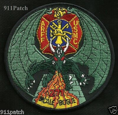 Aircraft Rescue Firefighting Marine Corps Fire Fighter Patch ARFF MCALE BOGUE271