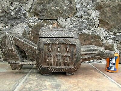 Dogon Tribal 'ark Of The World'. Ceremonial Nommo Ancestor Dish. Great Example!