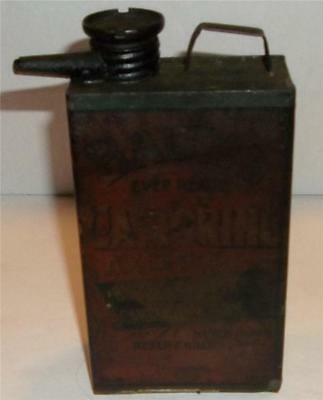 Antique Baums Castorine Axle Oil Can    Rare  Oil Can