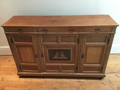 Mahogany ? Edwardian ? Cabinet With Decorative Marquetry Panel