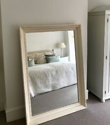 Very Large hand painted framed floor standing or overmantel mirror 155cm x 111cm