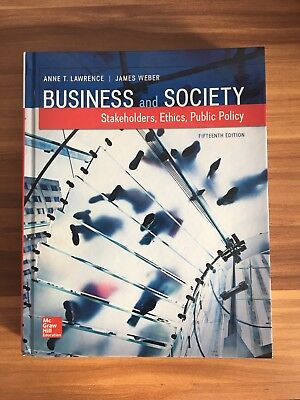 Business and Society: Stakeholders, Ethics, Public Policy by James Post,...