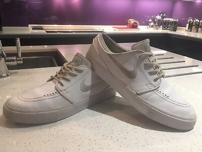 various colors 738ca f5f64 order nike sb stefan janoski white leather wolf grey trainers uk 10.5 eu  45.5 b0b4e ed195