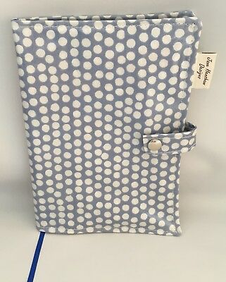 A5 Diary Cover,Journal Cover,Nurses Diary Cover,Week To View Cover,blue Spotty