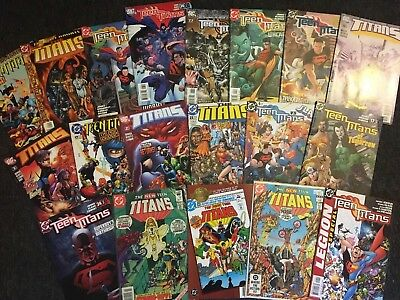 TEEN TITANS Lot of 19 DC Comics NICE!! All comics shown in photos