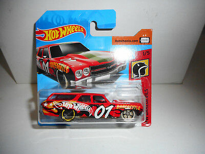 Chevrolet Chevelle Ss Wagon 1970 Red Hot Wheels 1/64