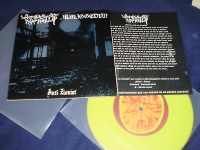 "WOODS OF INFINITY ARMAGGEDON Split 7"" RARE! lim 200 (anti moonblood goatmoon)"