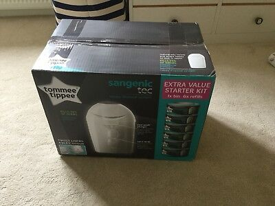 Tommee Tippee Sangenic Tec Nappy Disposal Starter Pack 6 discs