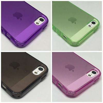 SLIM TPU Soft Rubber Silicone CLEAR GEL CASE COVER for Apple iPhone SE