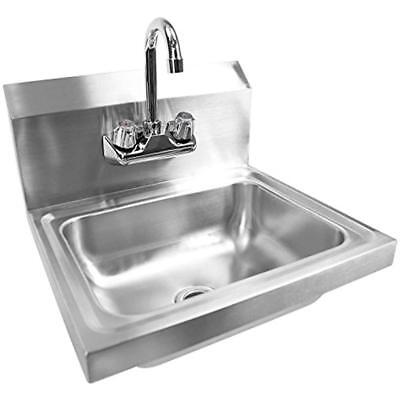 Bar Sinks Commercial NSF Stainless Steel - Wall Mount Hand Washing Basin With