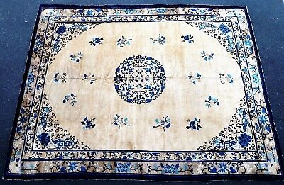 Tapis ancien rug Chinois Chinese Chine Pre-1900