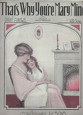 1925 That's Why You're Mary Mine Roy King Rare Antique Original Sheet Music I24