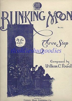1936 Blinking Moon Three Step William C Powell No 1411 Rare Antique Sheet Music