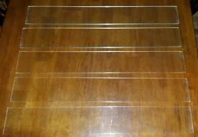 "Vintage 1960s Jalousie Louver Slatted Window-Lot of 5 GLASS ONLY 25"" x 4"" x 1/4"""