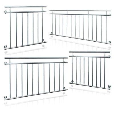 Juliet french balcony 90 x 100 128 156 184 225cm security grid steel balustrades