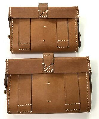 Wwi Russian M1909 Mosin Rifle Ammo Pouches- Pair