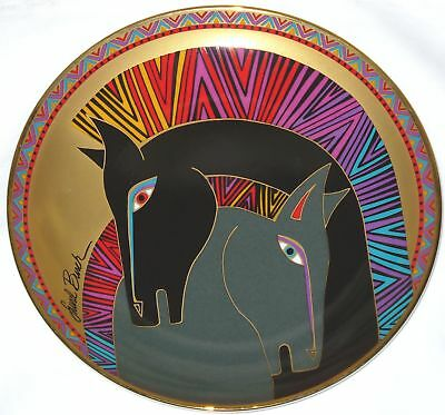 "Laurel Burch Embracing Horses 8"" Collector Plate 1995 Franklin Mint RoyalDoulton"